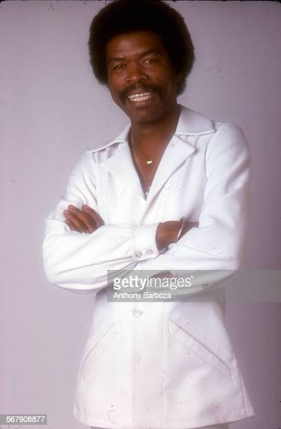 Portrait of British Virgin Islandsborn American musician Jon Lucien as he poses with his arms crossed New York 1975
