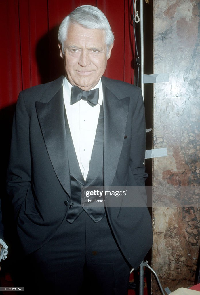 Portrait of British-born American actor Cary Grant (born Archibald Leach, 1904 - 1986) during the Friars Club Testimonial Dinner for Frank Sinatra at the Waldorf Astoria, New York, New York, February 1976.