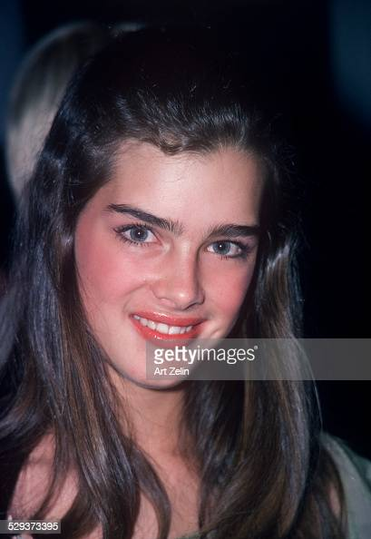 Portrait of Brooke Shields looking in to camera circa 1970 New York