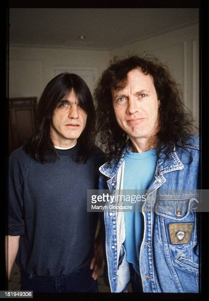 Portrait of brothers Angus and Malcolm Young from Australian rock band AC/DC Germany 1992