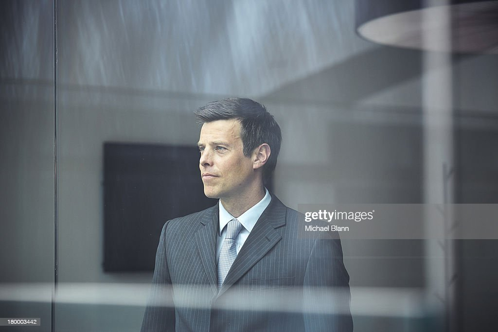 Portrait of business executive in board room : Stock Photo