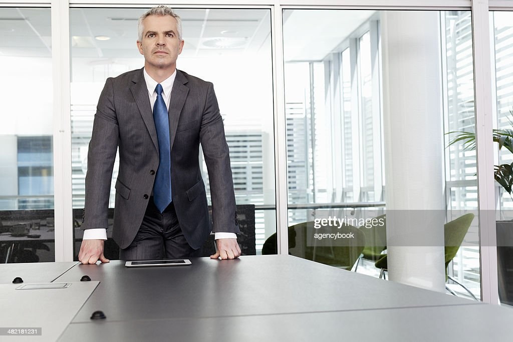 Portrait of business manager in office