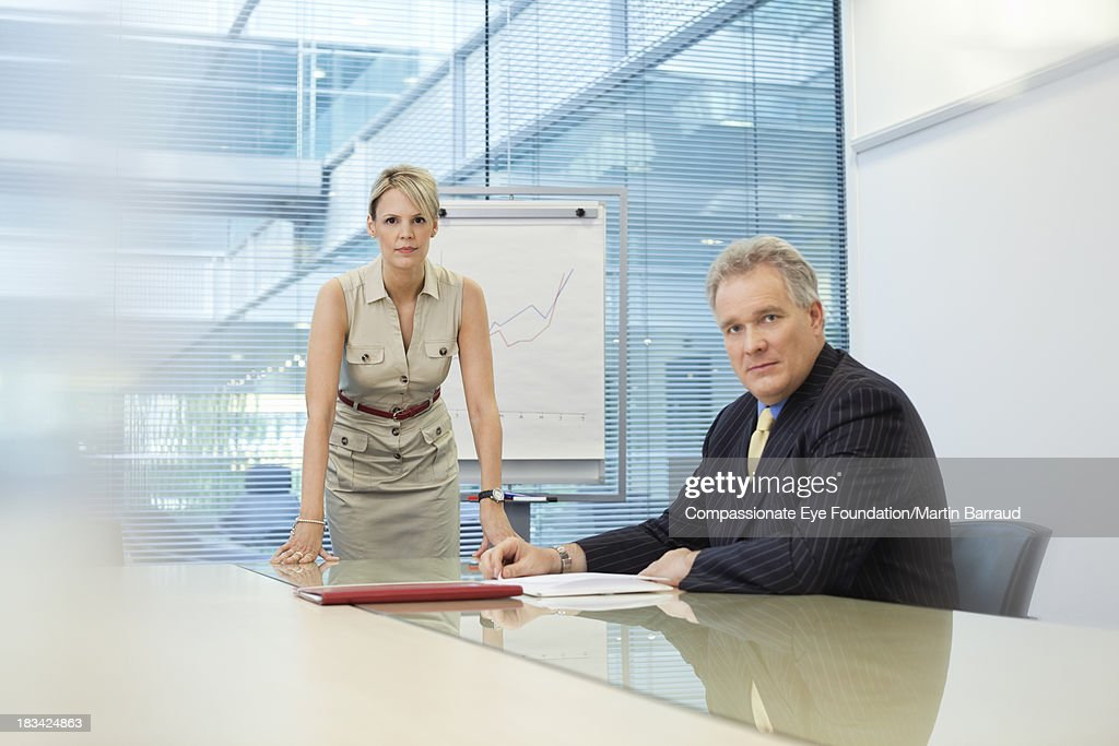 Portrait of business people in office : Stock Photo