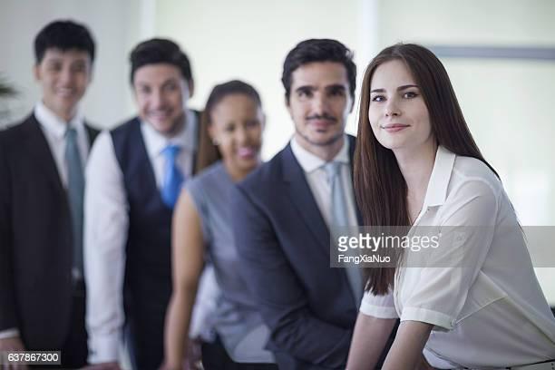 Porträt von Geschäftsleuten in Büro
