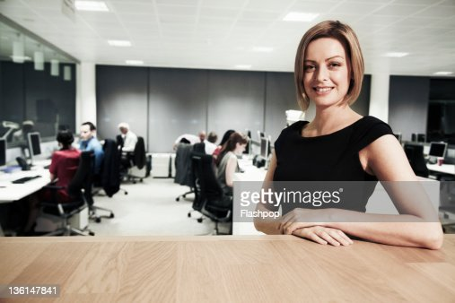 Portrait of business woman at the office : Stock Photo