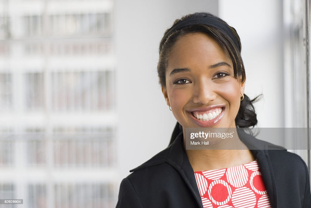 Portrait of Business Woman in Office Environment. : Stock Photo