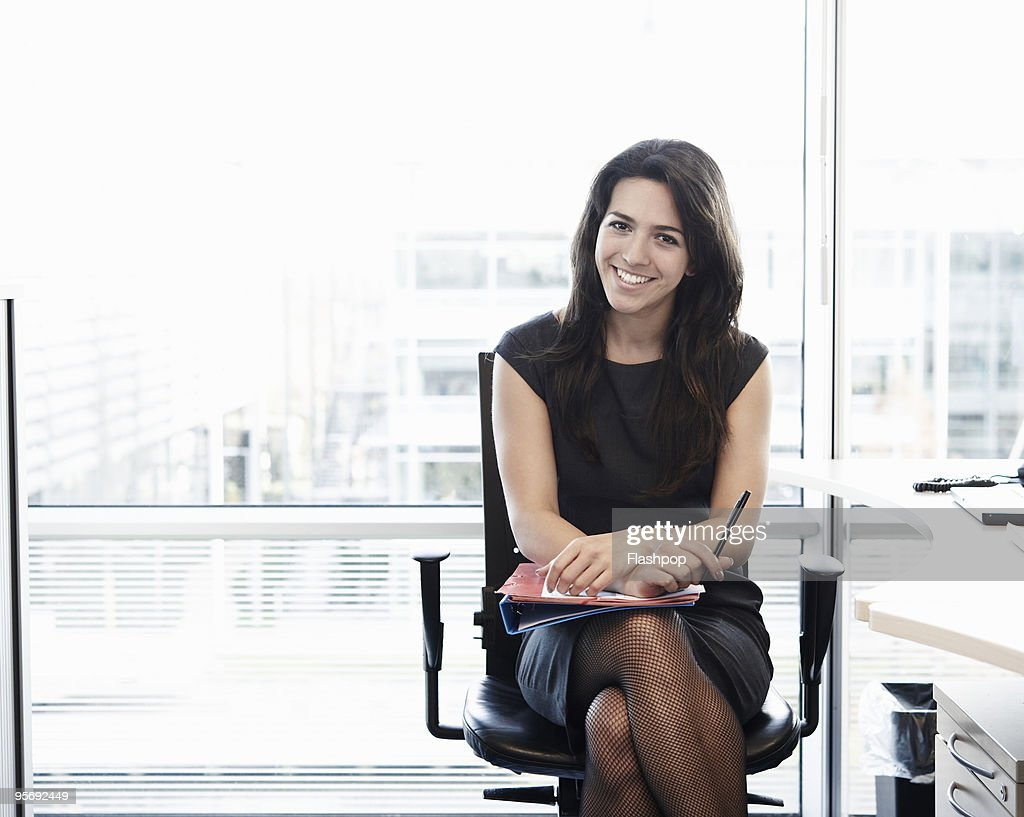 Portrait of business woman smiling