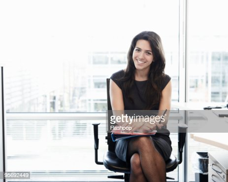 Portrait of business woman smiling  : Stock Photo