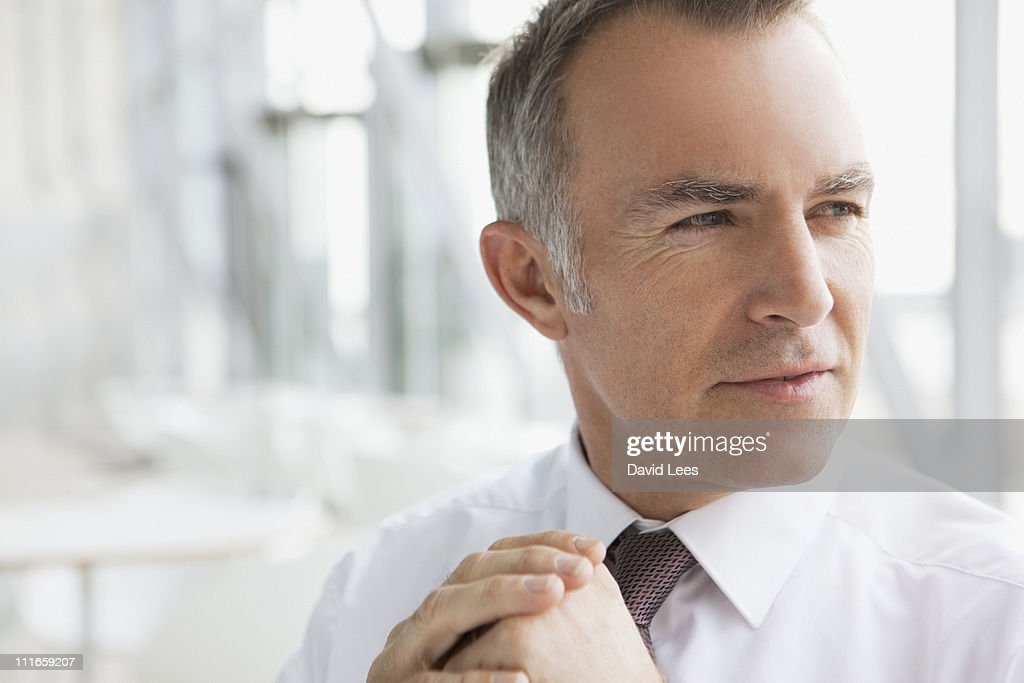 Portrait of businessman, close up : Stock-Foto