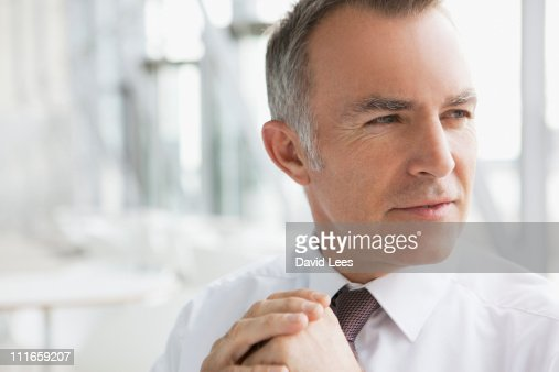 Portrait of businessman, close up : Foto de stock