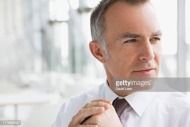 Portrait of businessman, close up