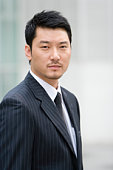 Portrait of Businessman, Differential Focus, China, Beijing