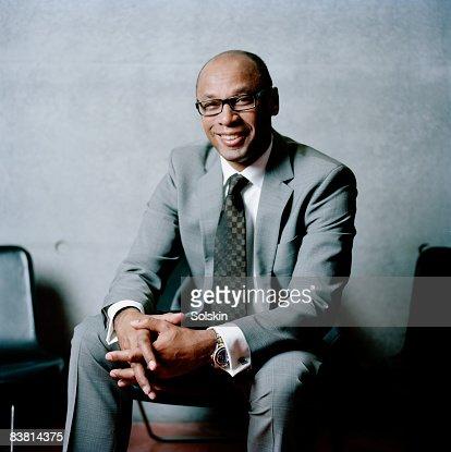 portrait of businessman in modern office : Stock Photo