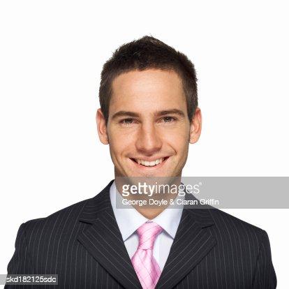 Portrait of businessman smiling : Stockfoto