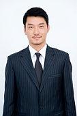 Portrait of businessman Standing Straight, China, Beijing