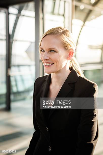 Portrait Of Businesswoman At Airport