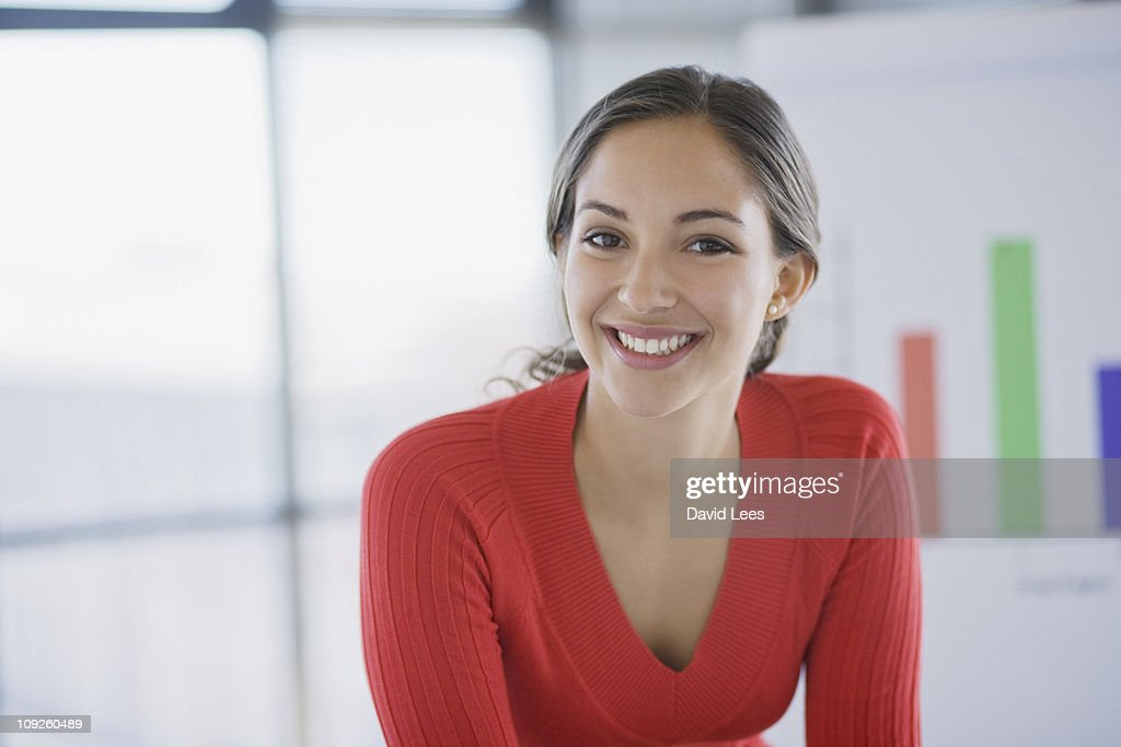 Portrait of businesswoman, smiling : Stock Photo
