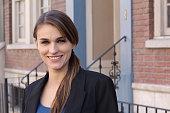 Portrait Of Businesswoman Standing In Street.