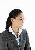 Portrait of businesswoman,side view