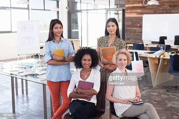 Portrait of businesswomen in modern office