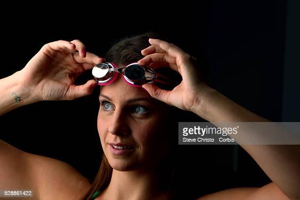 Portrait of Butterfly swimmer Ellen Gandy at the Brisbane Aquatic Centre Brisbane Australia Sunday 6th April 2014