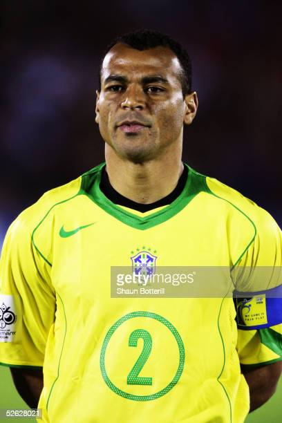 A portrait of Cafu of Brazil prior to the 2006 World Cup Qualifier South American Group match between Uruguay and Brazil at the Centenario Stadium on...