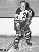 Portrait of Canadian hockey player Eddie Shore in the uniform of the Boston Bruins December 8 1936