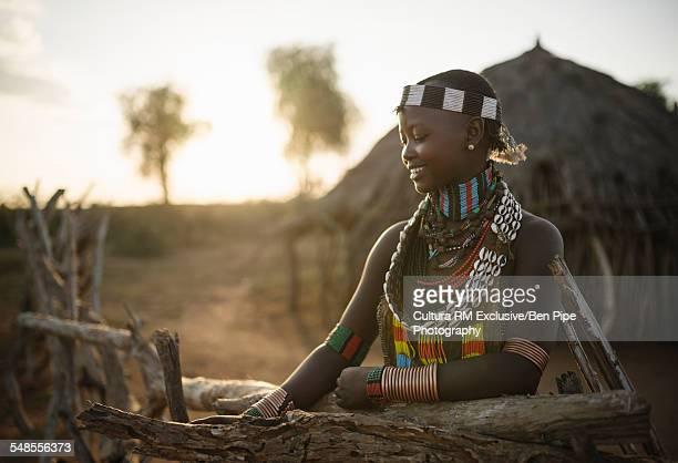 Portrait of Canekiy, Hamar Tribe, Omo Valley, Ethiopia