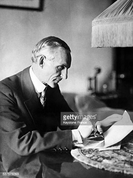Portrait of car manufacturer Henry Ford circa 1930