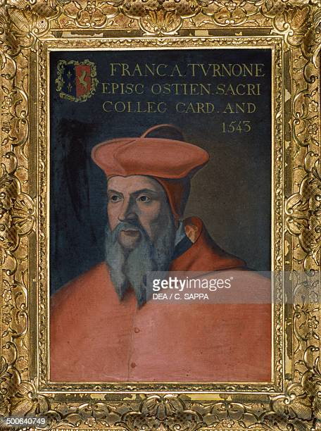 Portrait of Cardinal FrancoisJuste II de Tournon Chateau de Roussillon 16th century RhoneAlps France