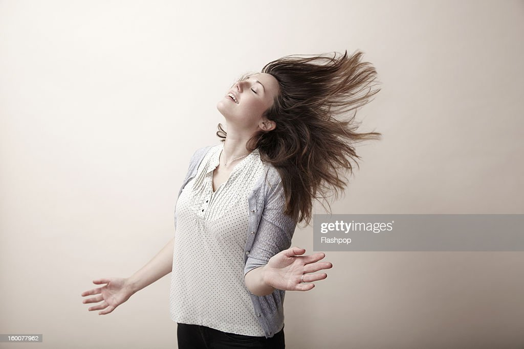 Portrait of carefree woman