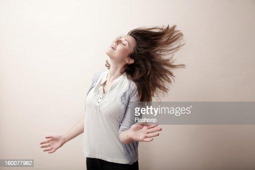 Portrait of carefree woman : Foto de stock