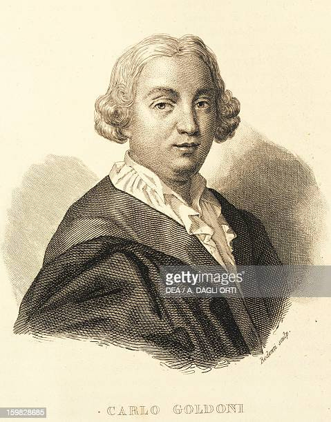 Portrait of Carlo Goldoni Italian dramatist and playwright Venice Biblioteca Nazionale Marciana