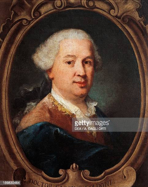 Portrait of Carlo Goldoni Italian dramatist and writer Painting by Pietro Longhi Venice Ca' Rezzonico