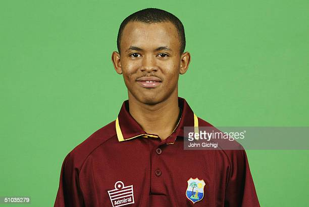 A portrait of Carlton Baugh of the West Indies taken during a photocall at the Royal Garden Hotel on June 20 2004 in Kensington London
