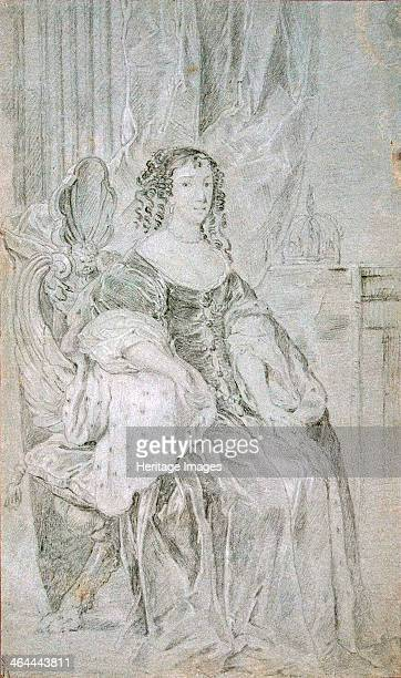 Portrait of Catherine of Braganza 1670s Queen consort of England Lely Sir Peter Found in the collection of the State Hermitage St Petersburg