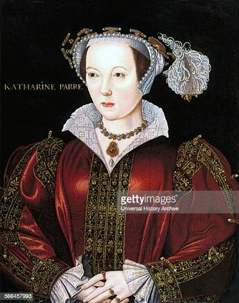 Portrait of Catherine Parr Queen of England and last of the wives of King Henry VIII Dated 16th Century