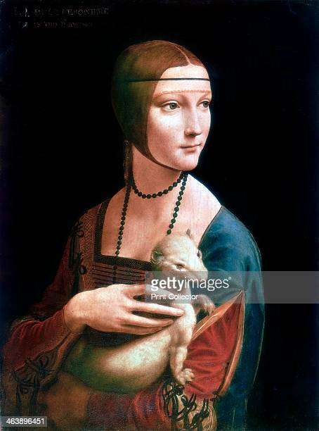 'Portrait of Cecilia Gallerani Lady with an Ermine' c1490 Cecilia Gallerani was an influential mistress of the ruler of Milan Ludovico Sforza