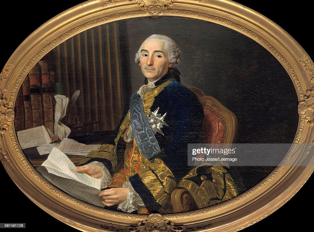 Portrait of Cesar Gabriel Count of ChoiseulChevigny Duke of Praslin Minister of Foreign Affairs then of the Navy Painting by Alexandre Roslin 094 x...