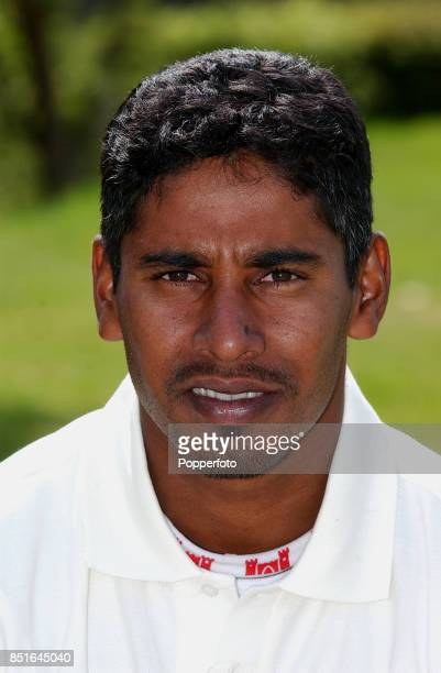 A portrait of Chaminda Vaas of Sri Lanka taken prior to the Sri Lanka tour of England on 23 April 2002 in London England