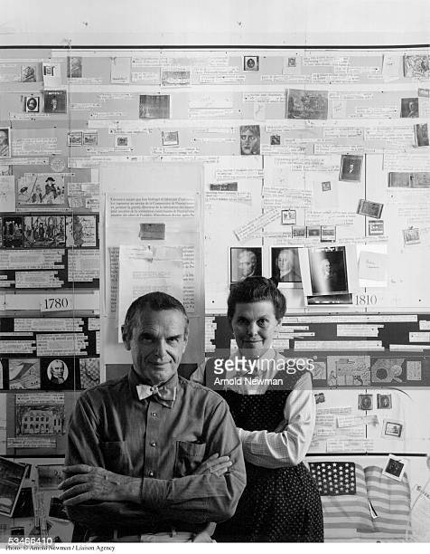 Portrait of Charles and Ray Eames American furniture designers November 16 1974 in Venice California Charles and wife Ray brought fresh and visionary...