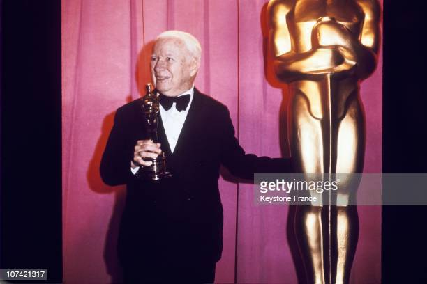 Portrait Of Charles Chaplin During Oscar Awards Ceremony