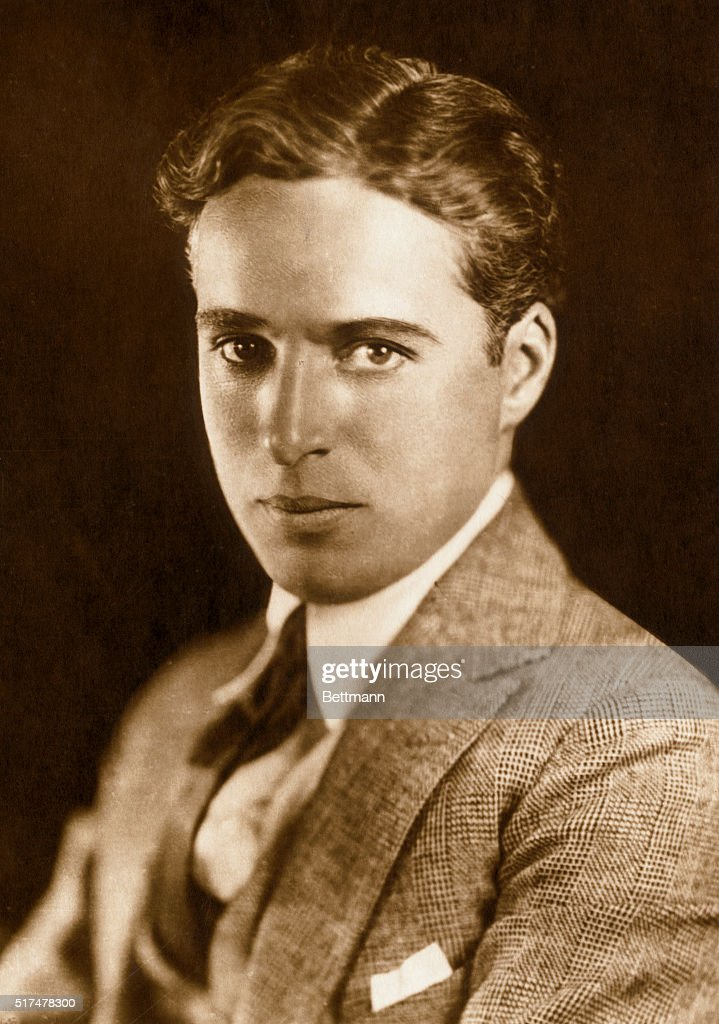 Portrait of Charlie Chaplin here as a young man. Undated photograph.