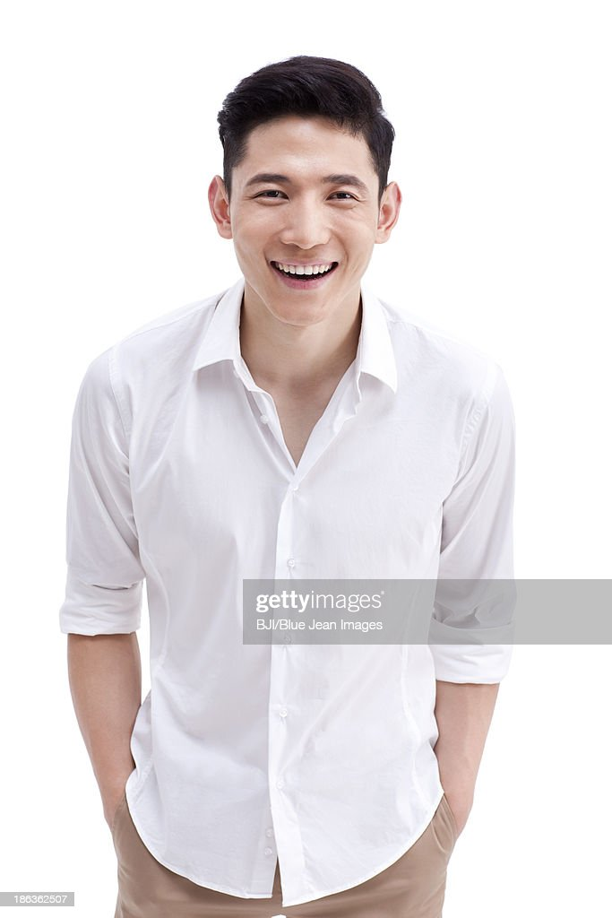 Portrait of cheerful young man