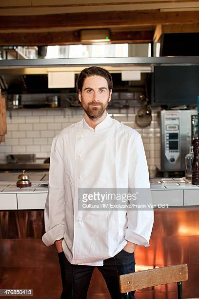 Portrait of chef in commercial kitchen