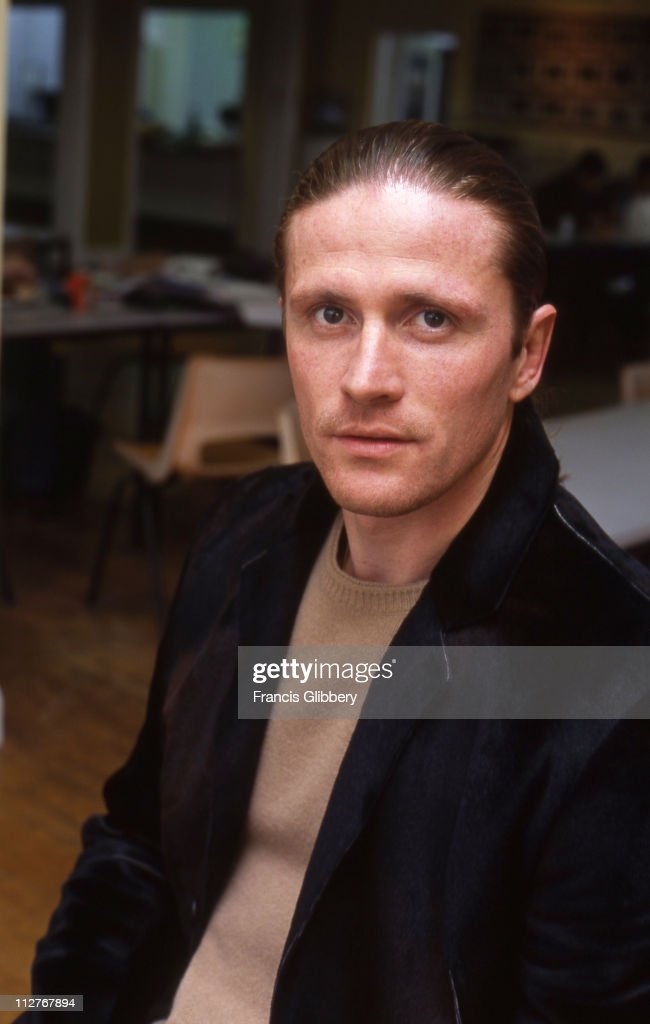 Portrait of Chelsea player Emmanuel Petit during the 2001/02 season at Chelsea FC training ground in September 2001 at Harlington, in London.