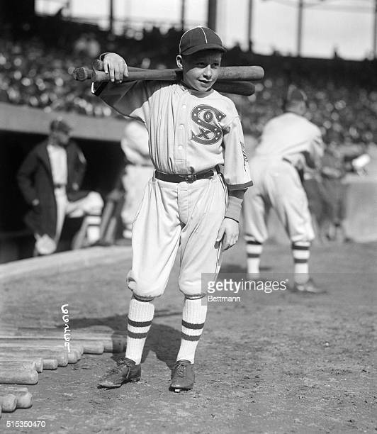 Portrait of Chicago White Sox batboy Clarence Rowland Jr son of the White Sox manager on the field before the fourth game of the World Series against...