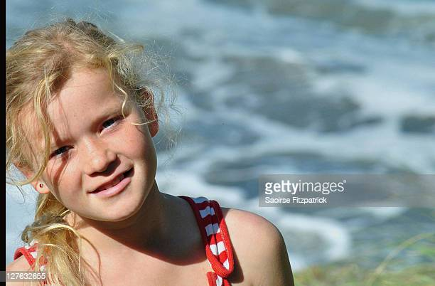 Portrait of child at beach