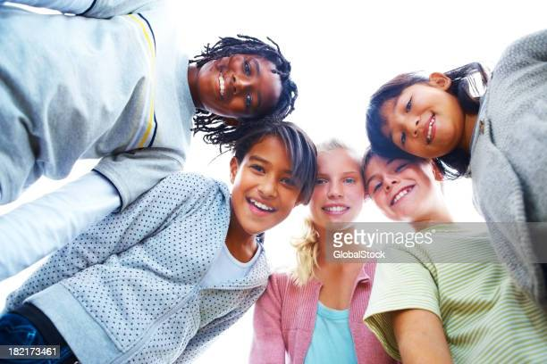 Portrait of children enjoying
