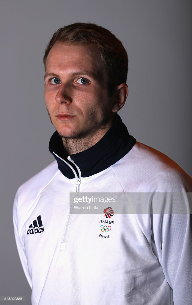 A portrait of Chris Baker a member of the Great Britain Olympic team during the Team GB Kitting Out ahead of Rio 2016 Olympic Games on June 27, 2016 in Birmingham, England.